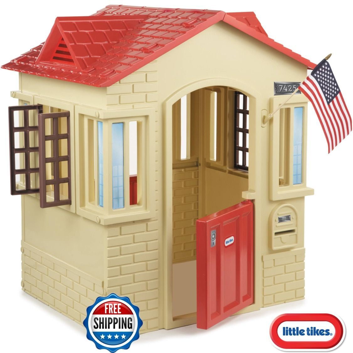 Little Tikes Cape Cottage Playhouse play house Backyard Outdoor Red ...