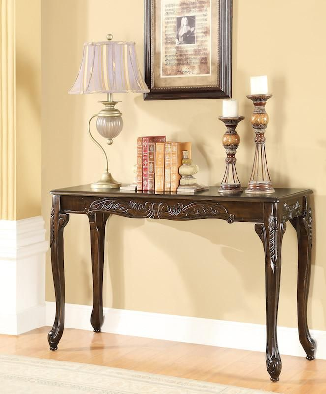 Hellen Sofa Table Cherry Traditional Console Tables Wood Sofa Table Traditional Sofa
