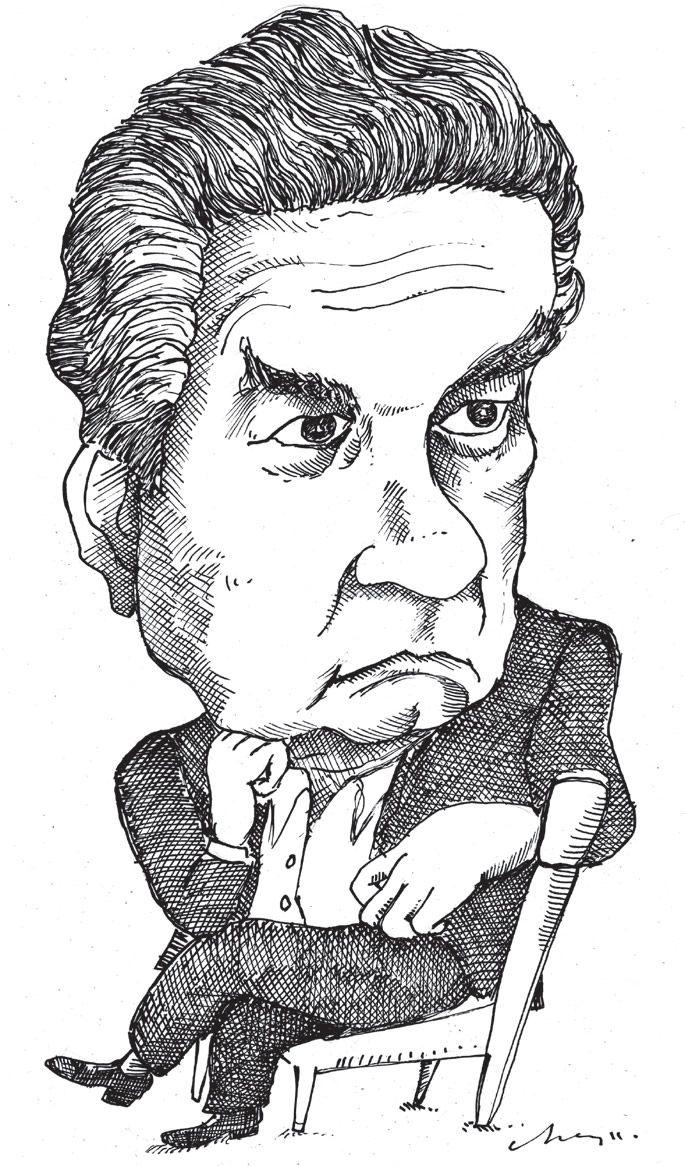 Caricatura de Octavio Paz. | Octavio Paz: «La libertad no