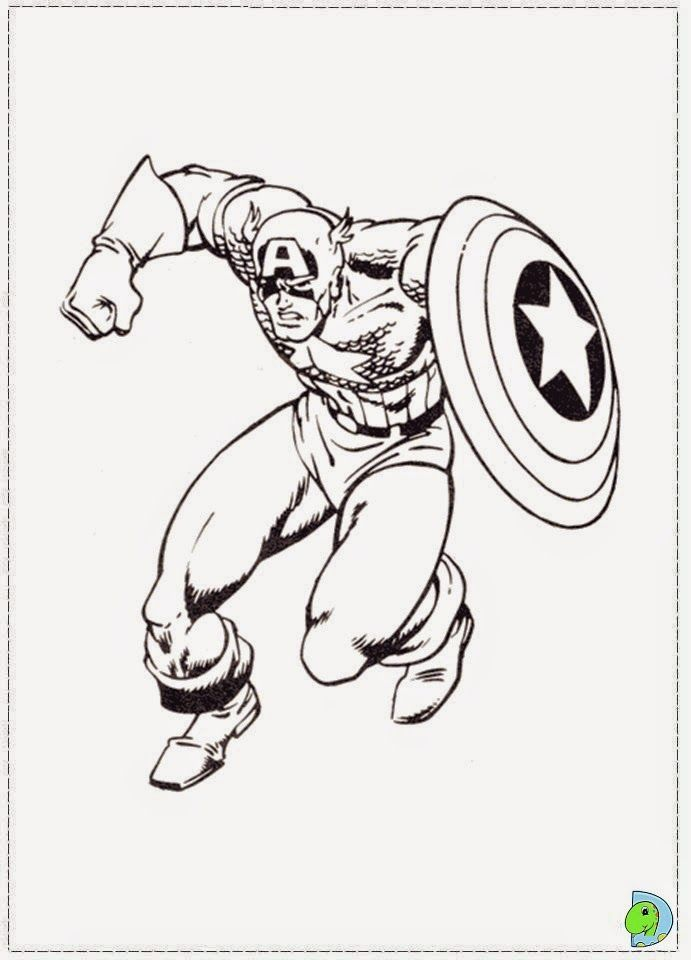 Dibujos Para Colorear Capitán América Civil War