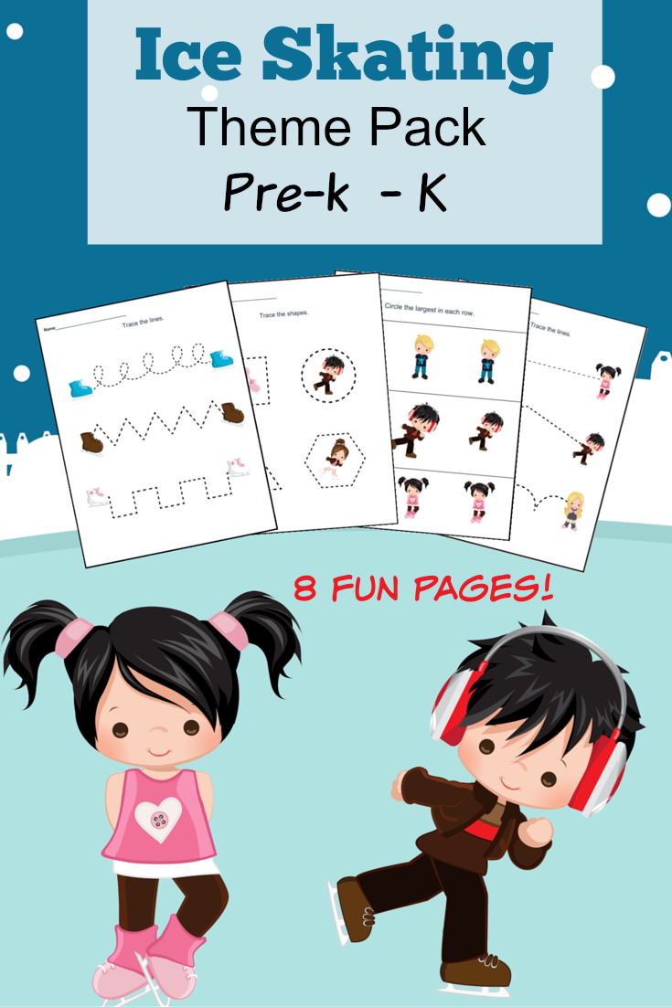 Ice Skating Themed Pre-Kindergarten and Kindergarten Worksheets ...