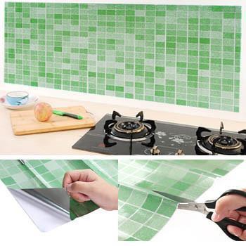 3d Mosaic Heat Resistant Self Adhesive Wallpaper Perfect For Backsplash Bathroom And Kitchen Papel De Parede Auto Adesivo Mosaicos Parede De Mosaico