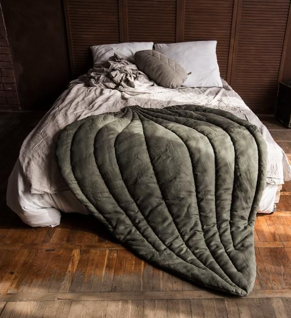 Linen Leaf Blanket Linen Mat Floor Mat Play Mat Linen