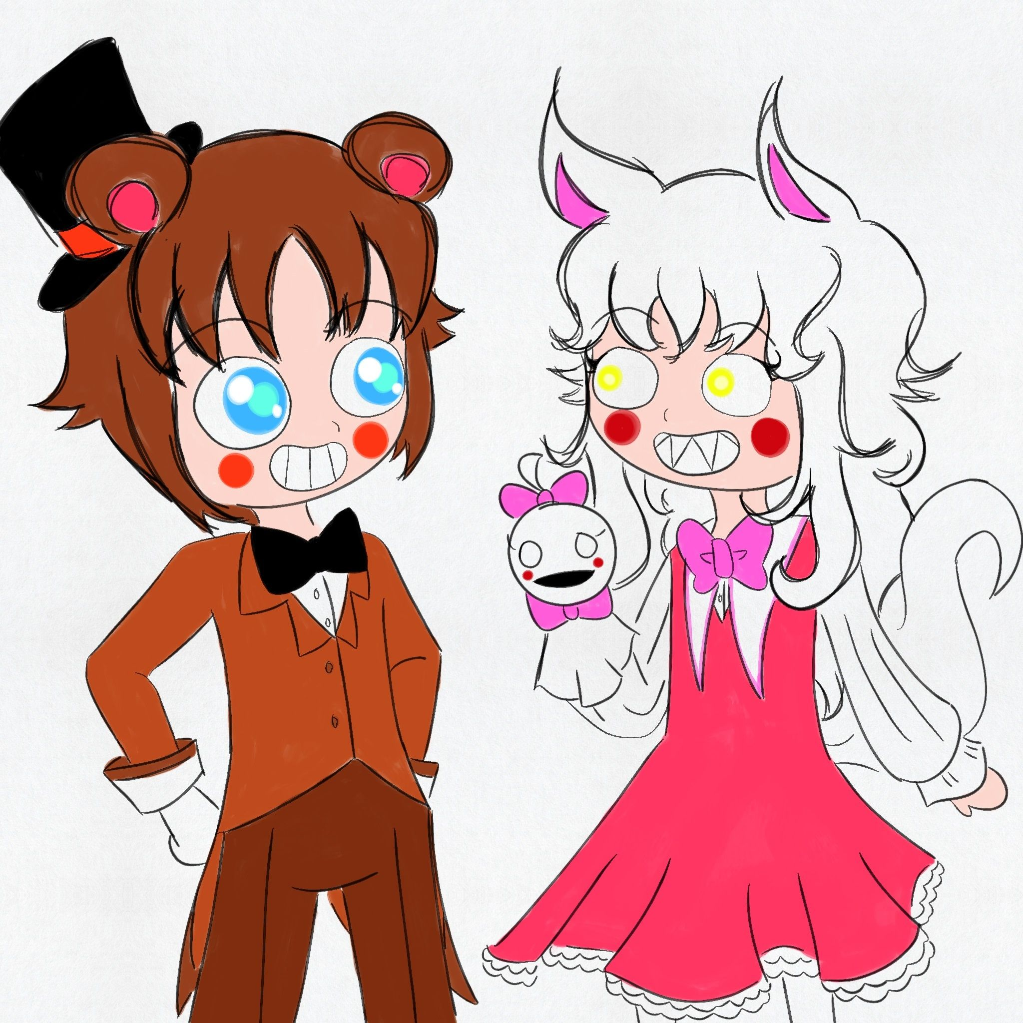 Toy chica x fem mangle preview undertale plans by red - Mangle X Toy Freddy Google Search