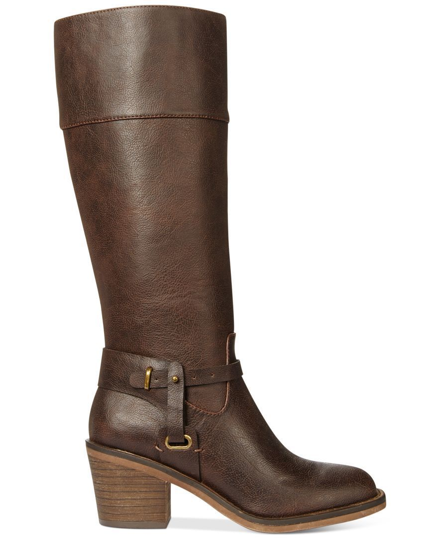 dad062129198 XOXO Marisa Wide Calf Western Harness Boots - Boots - Shoes - Macy s ...