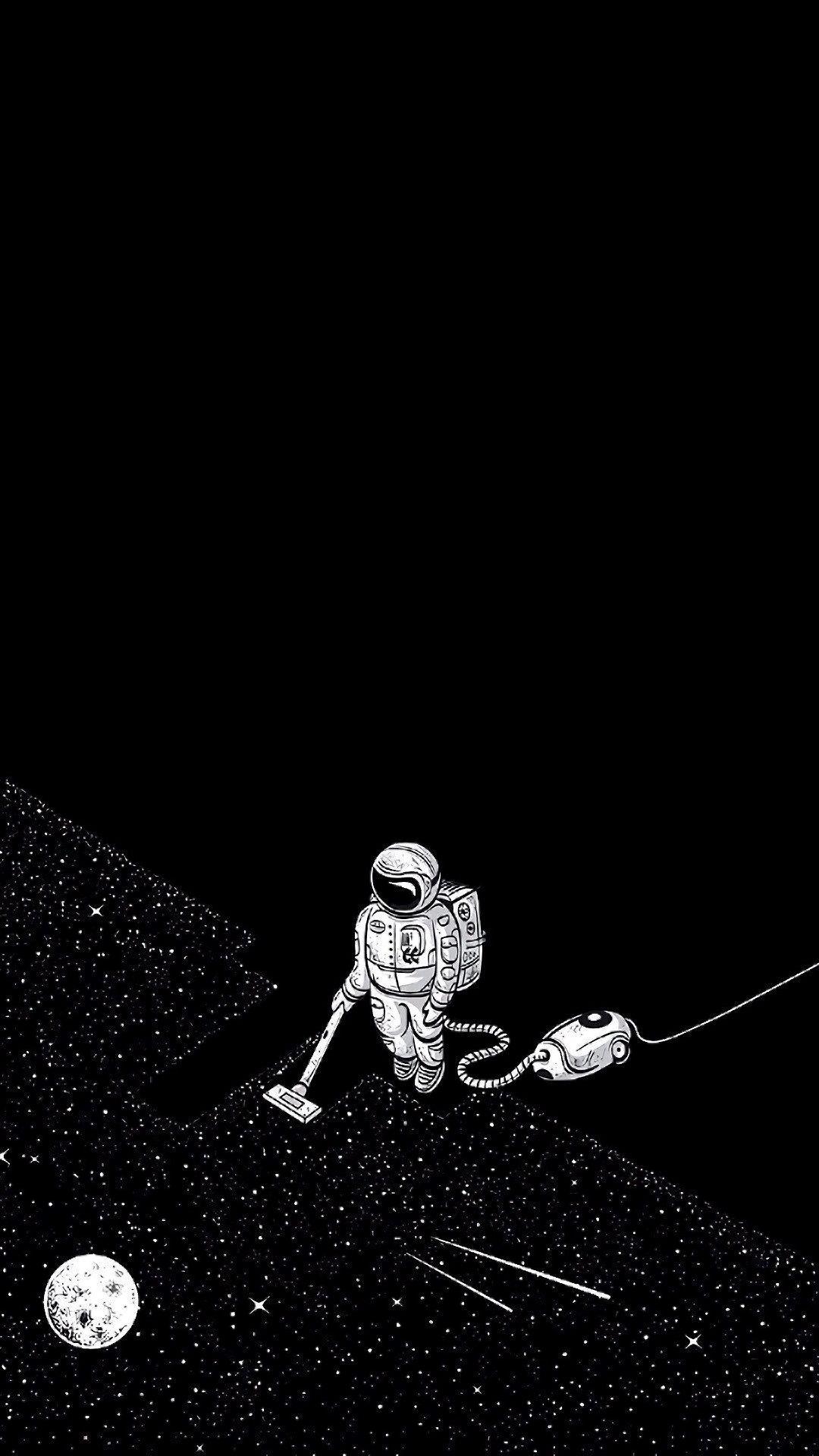 Astronaut Vacuuming Space Wallpaper Wallpapershit