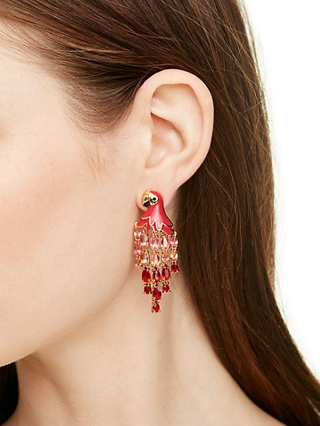 out of office parrot statement earrings - Kate Spade New York