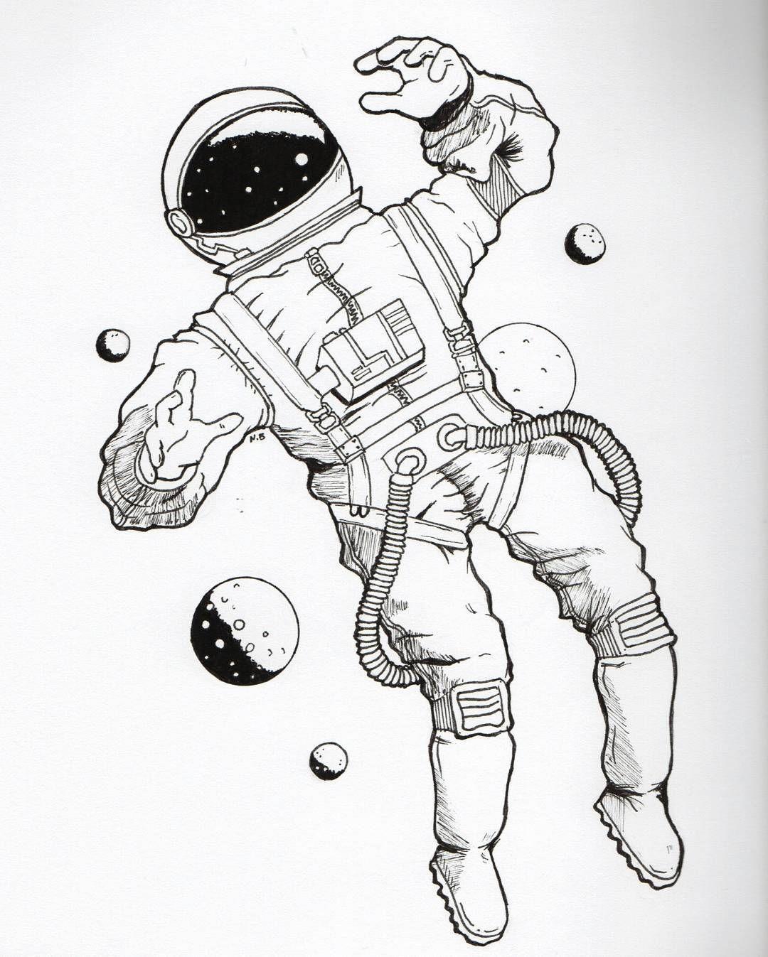 break dancing astronaut drawing - 735×917