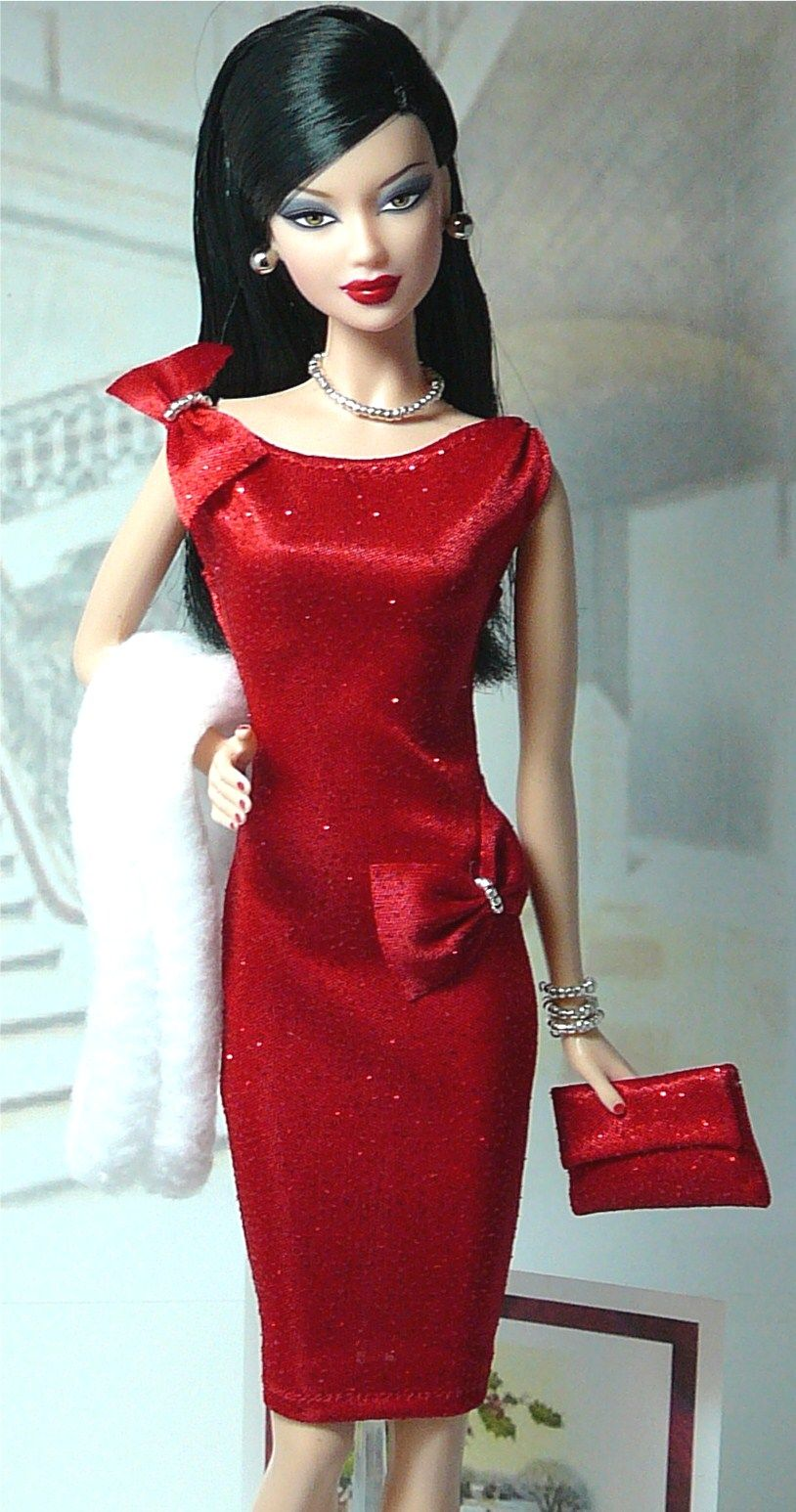 Holiday Cocktail Party. Love that dress!! | Barbie Dolls & Friends ...