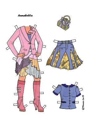 Karen`s Paper Dolls: Annabella 1-2 Paper Doll in Colours. Annabella 1-2…