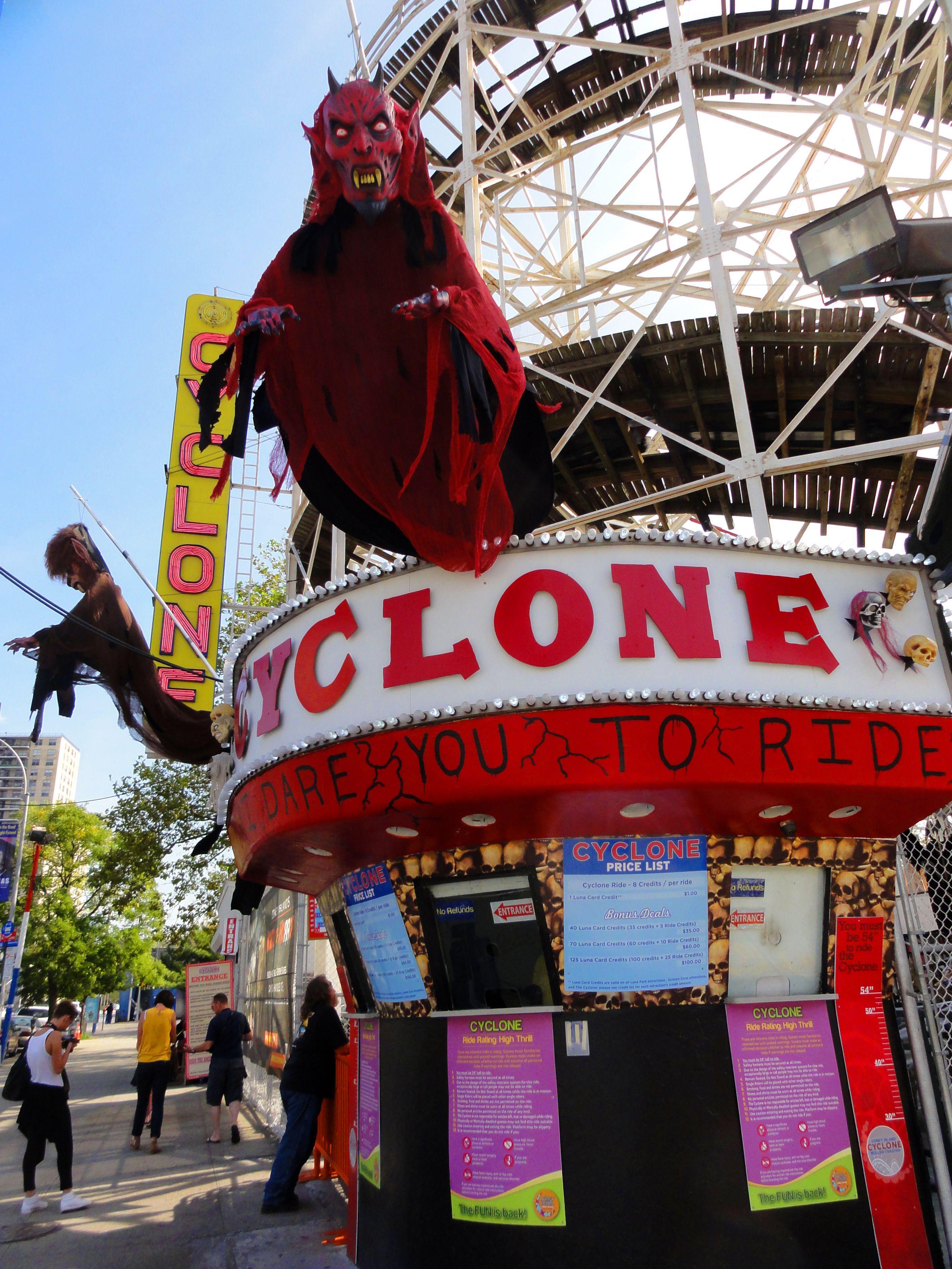 Cyclone Roller Coaster Visiting nyc, Roller coaster, Nyc