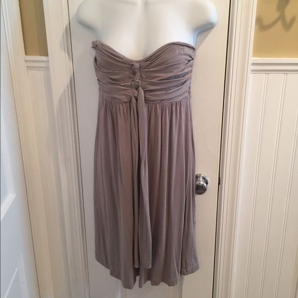 """NY&Co taupe cover up Strapless but can be tied around neck in pic. Does have loops for straps but I don't have them anymore. About 29"""" long. New York & Company Dresses"""