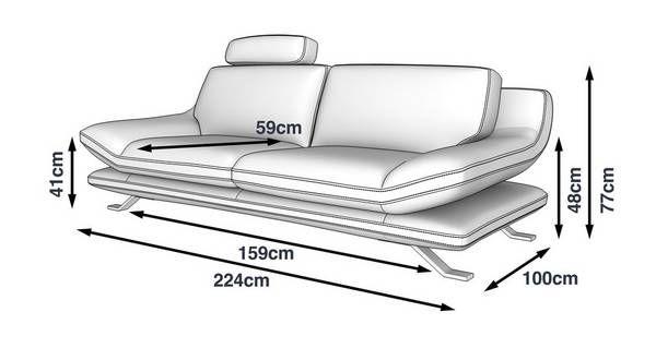 Napoleone 3 Seater Sofa Napoleone Showroom Dfs Pekerjaan Kayu