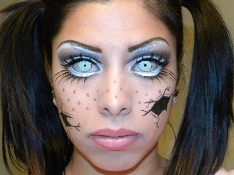 ▷ Cracked Baby Doll Makeup Tutorial - YouTube | halloween makeup ...