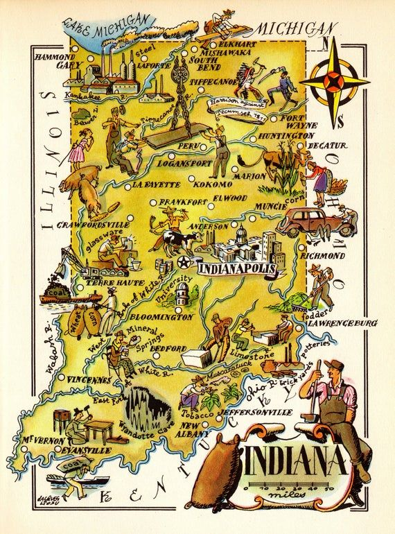 Indiana In Us Map