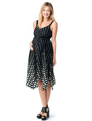 a73f087817dc2 Destination Maternity Jessica Simpson Sleeveless Hanky Hem Maternity Dress