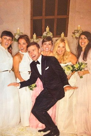 News Jessica Biel Wedding Dress Pink Wedding Dress Celebrity Wedding Photos
