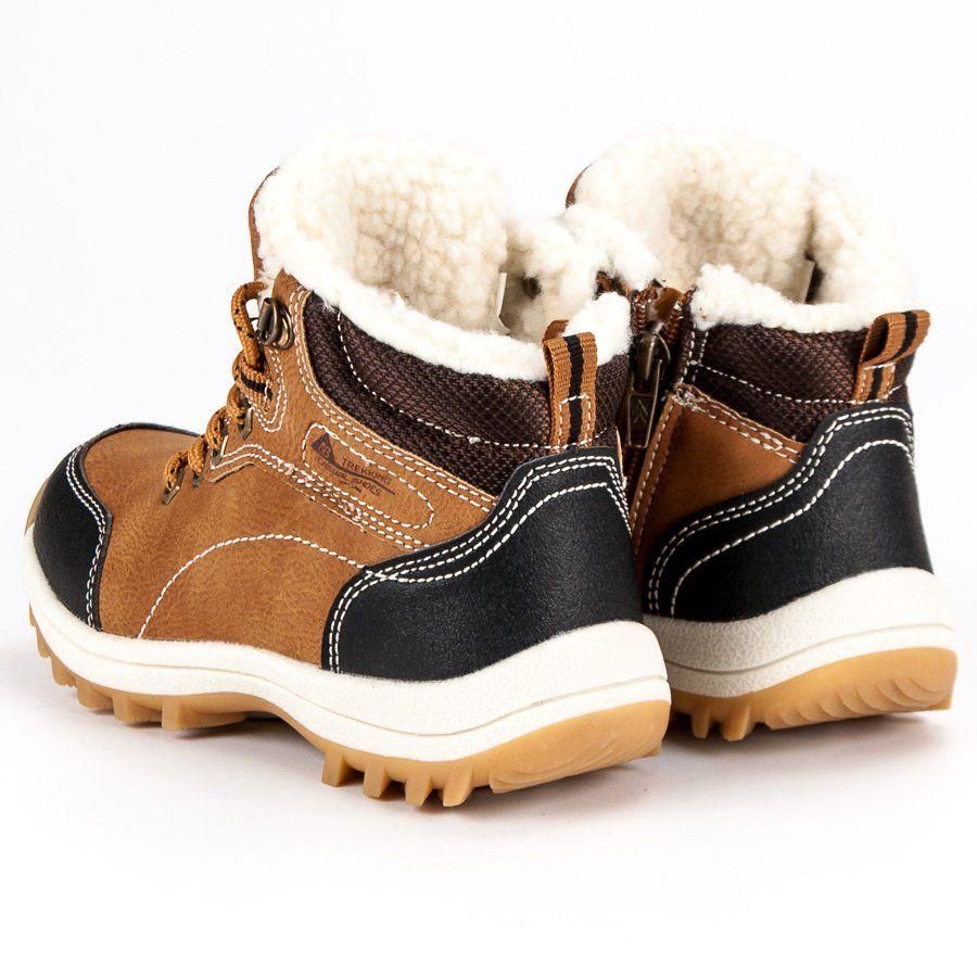 Kozaki Dla Dzieci Arrigobello Arrigo Bello Brazowe Chlopiece Buty Z Kozuszkiem Boots Sorel Winter Boot Shoes