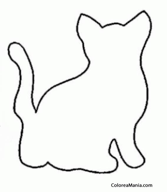 Dibujos Siluetas De Animales Colorear Silueta De Gato De Espaldas