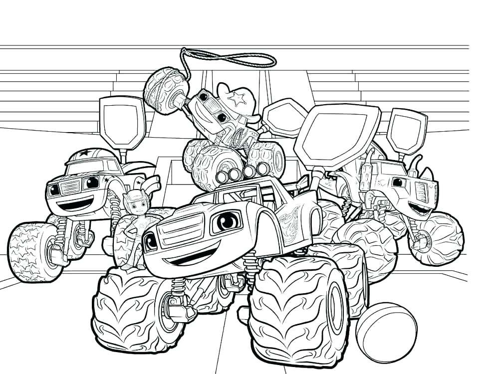 Blaze And The Monster Machines Coloring Pages Best Coloring Pages For Kids Monster Truck Coloring Pages Cartoon Coloring Pages Coloring Pages