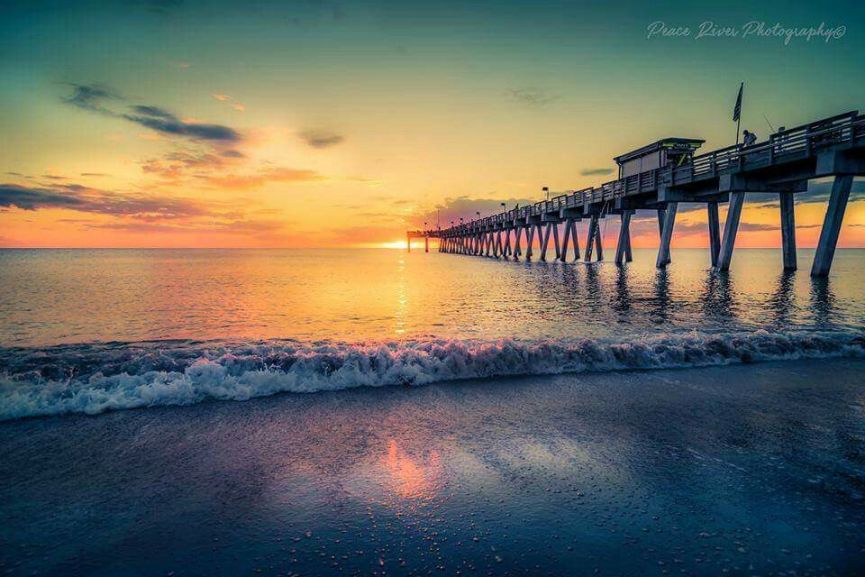 Sunset at the Pier in Venice Florida