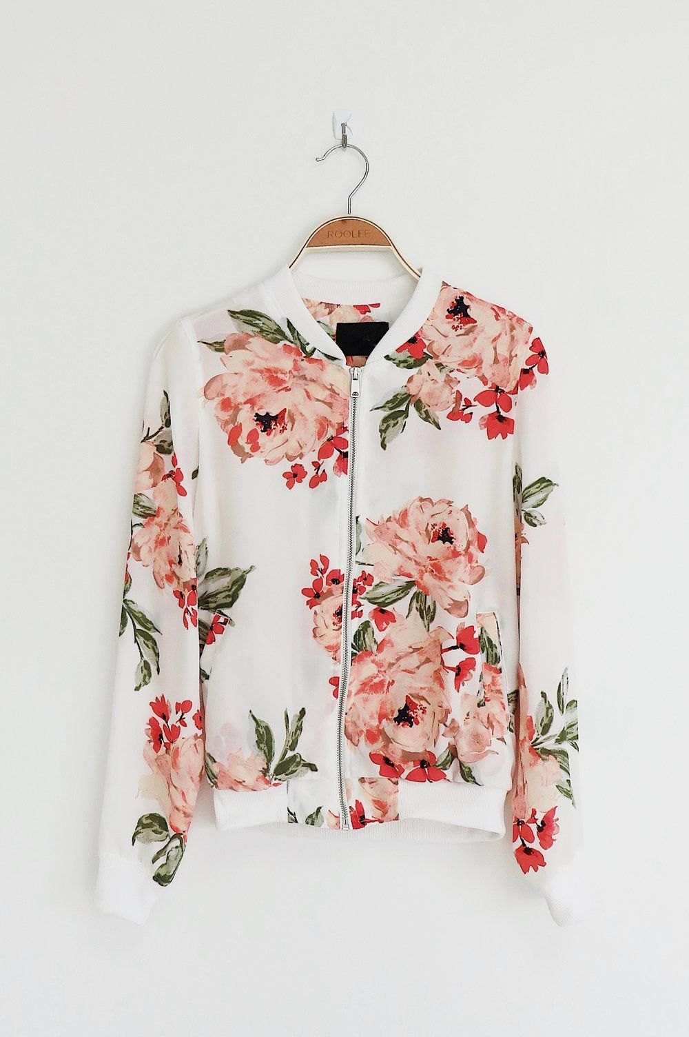 Floral Bomber Jacket | ROOLEE | Costura | Pinterest | Ropa, Vestidos ...