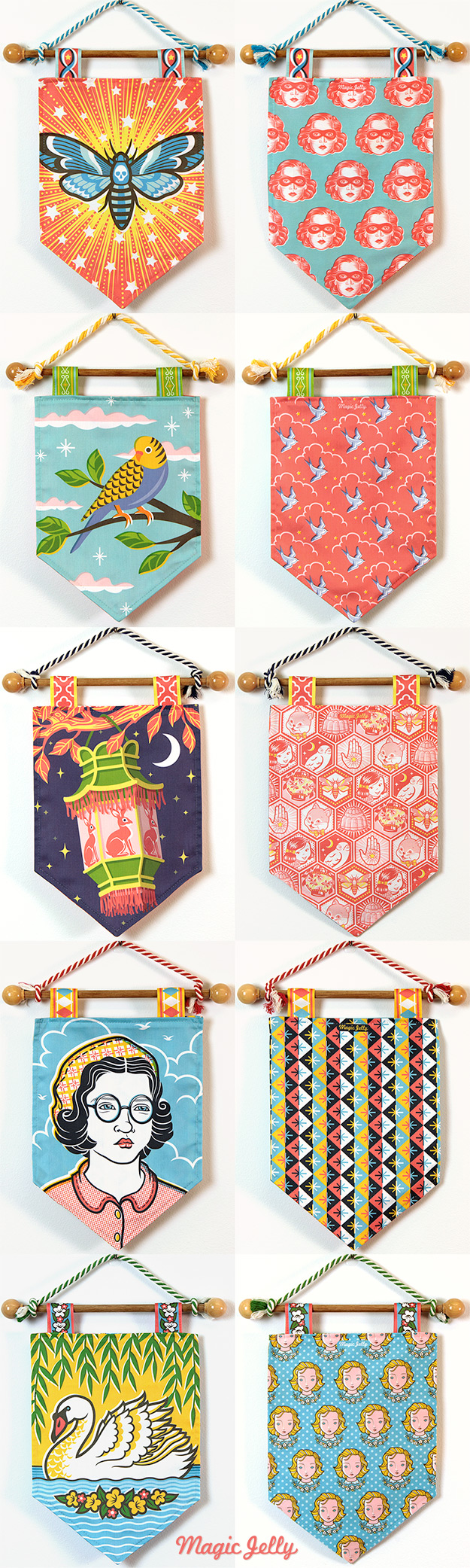 Magic Jelly double-sided pennants