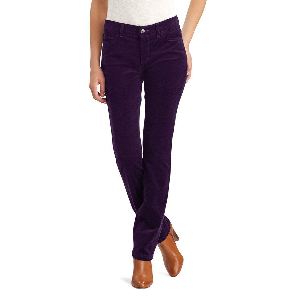 07fd799e225 Petite Chaps 4-Way Stretch Straight-Leg Corduroy Pants, Women's, Size: 4  Petite, Purple