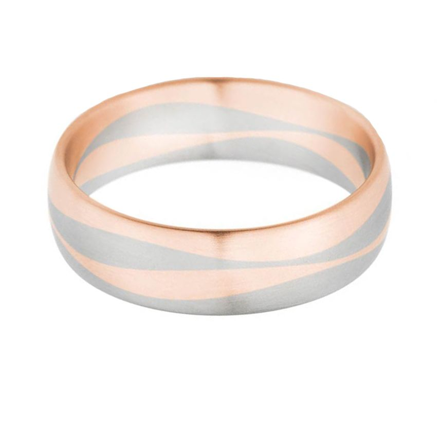 Bauer Red Swirl Wedding Ring Steven Singer Jewelers