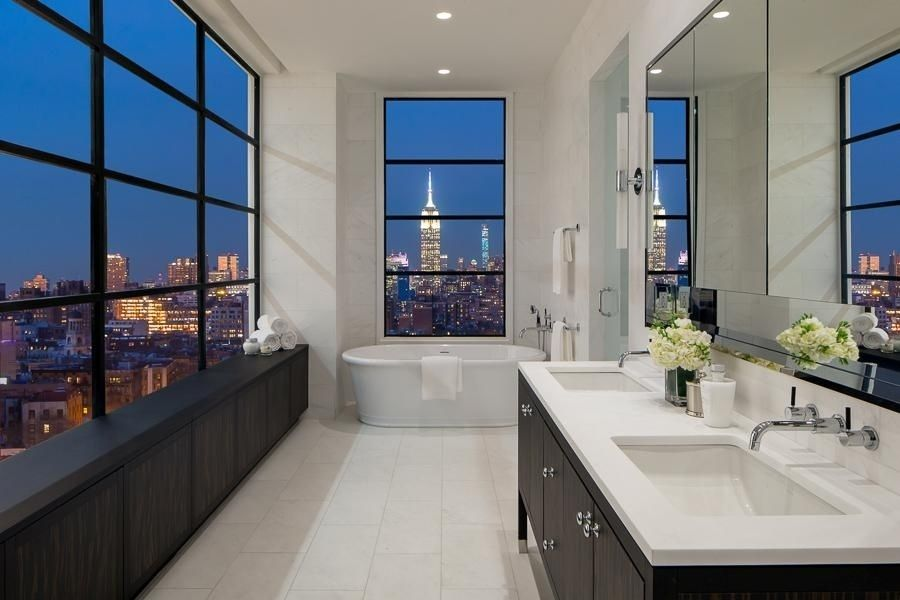 40 Stunning Luxury Bathrooms with Incredible Views | Badezimmer ...