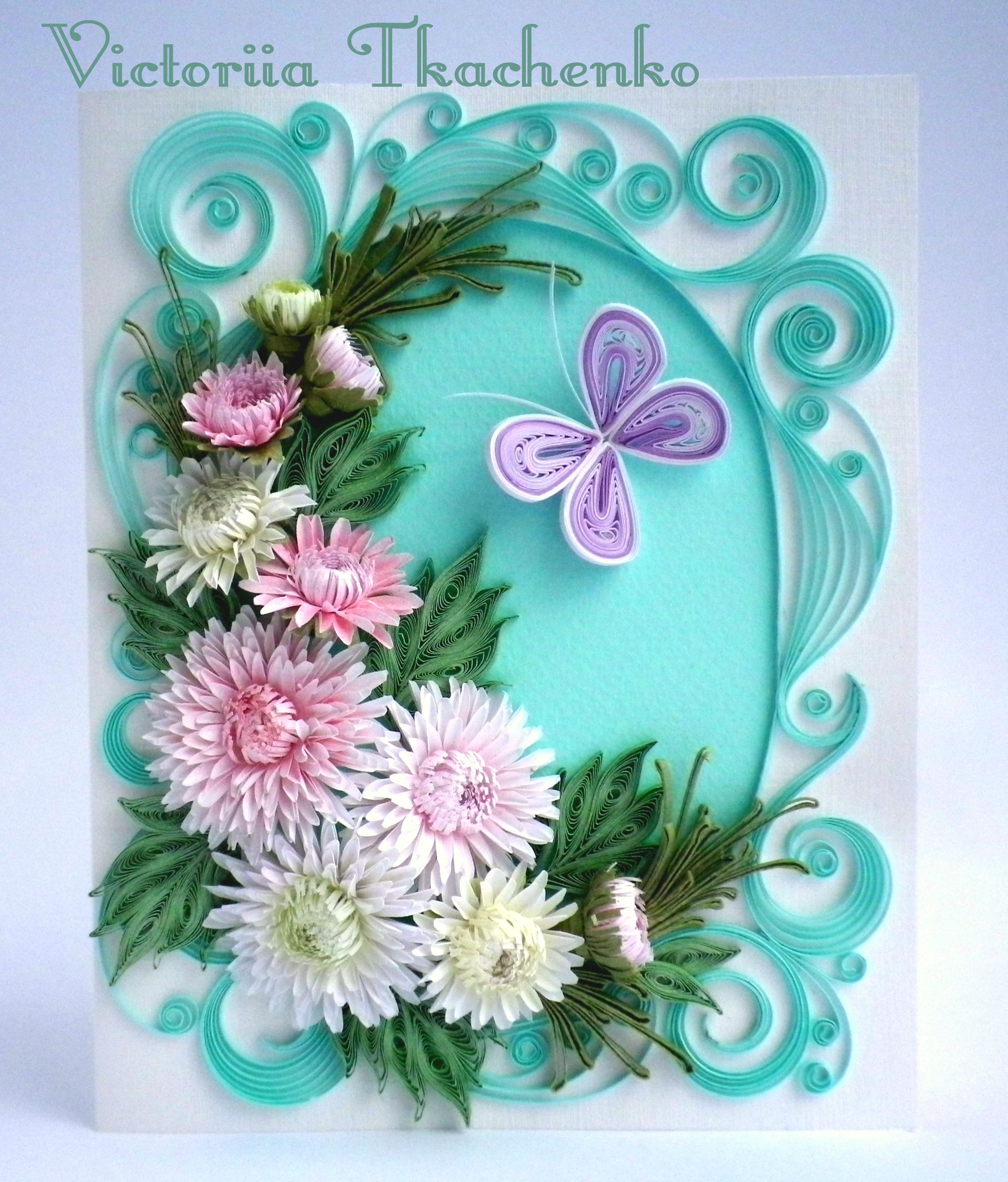 Quilling Greeting Card, For Any Occasion, Birthday, Ornate
