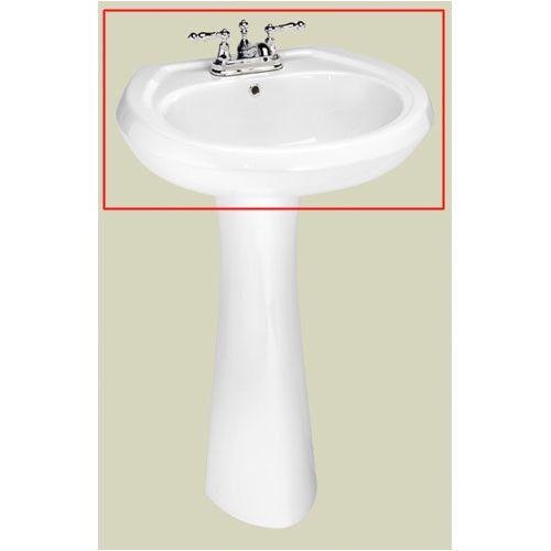 St Thomas Creations Stafford Center Petite Pedestal Bathroom Sink