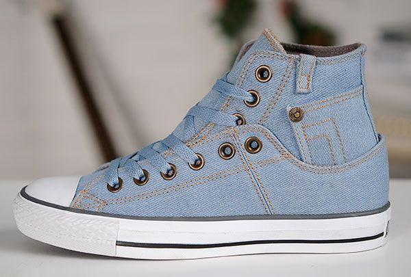 fddf1089f2c0f9 2015 Stylish Vintage Converse Jeans High Tops Light Blue Chuck Taylor All  Star Sneakers  converse  shoes