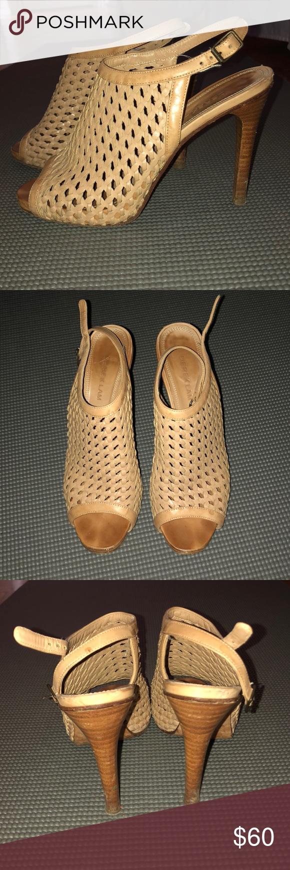 Derek Lam Basket Weave Peeptoe Sandals Size 38 Super chic Derek Lam basketweave peeptoe sandals.  In...