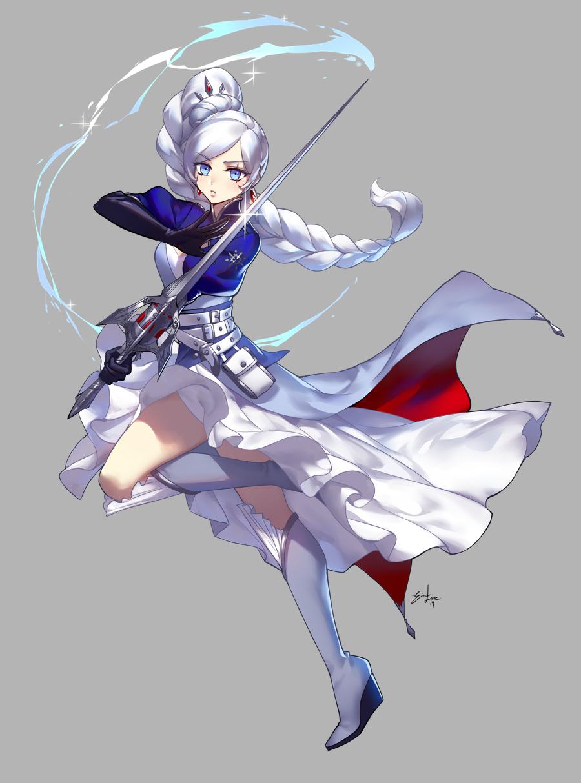 Weiss Vol. 7 portrait by einlee on DeviantArt Rwby anime