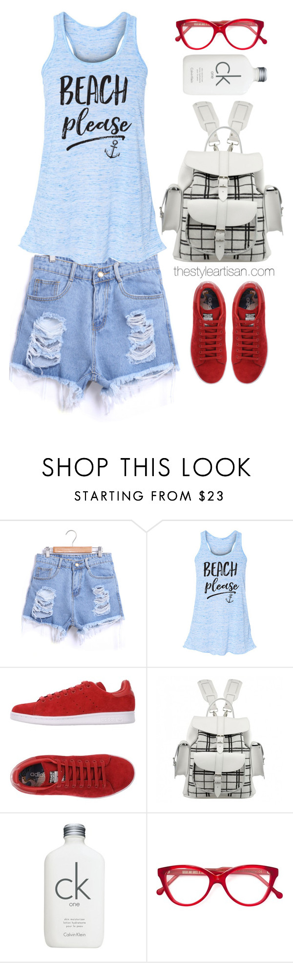 """""""Beach Please Flowy Tank Top Mermaid Shirt Mermaid Summer Tank Beach"""" by thestyleartisan ❤ liked on Polyvore featuring adidas Originals, Grafea, Calvin Klein, Cutler and Gross, redwhiteandblue and july4th"""