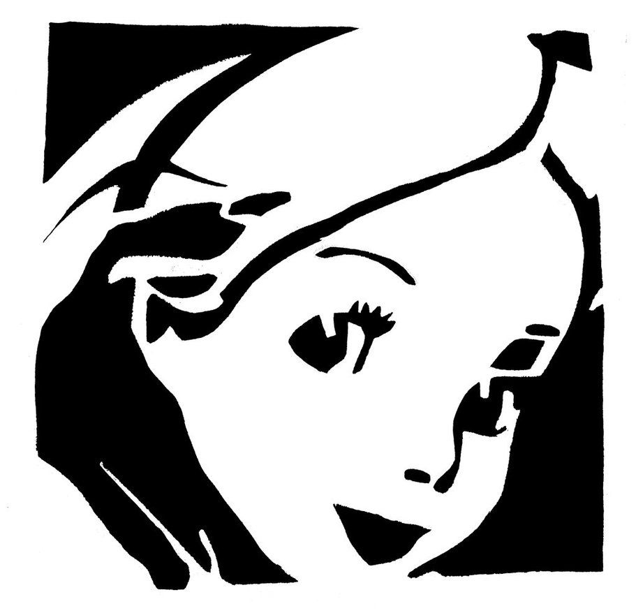 Ariel Pumpkin Carving Pattern Alice In Wonderland Stencil Alice In Wonderland Pinterest