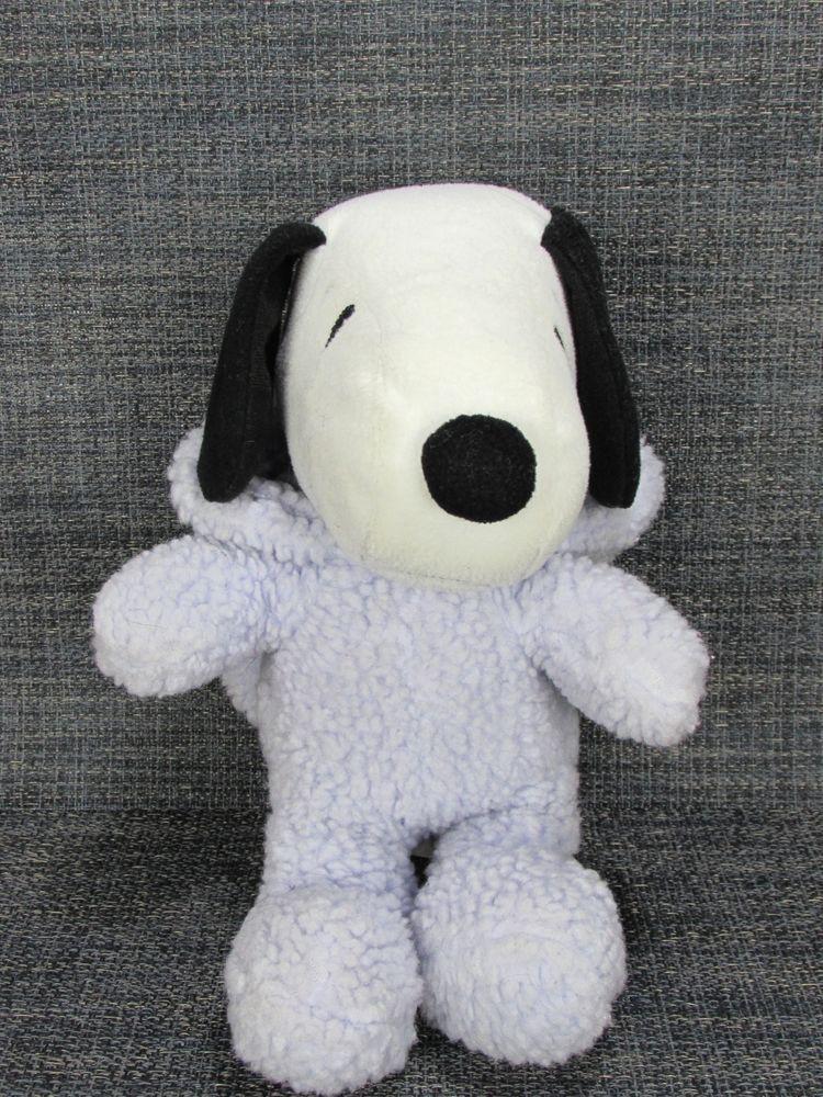 Snoopy Stuffed Animal Plush Hallmark Easter Bunny Purple Lavender