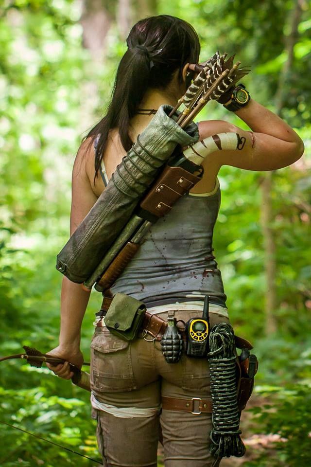 Tomb Raider Lara Croft Kostüm Selber Machen Waffen Pinterest