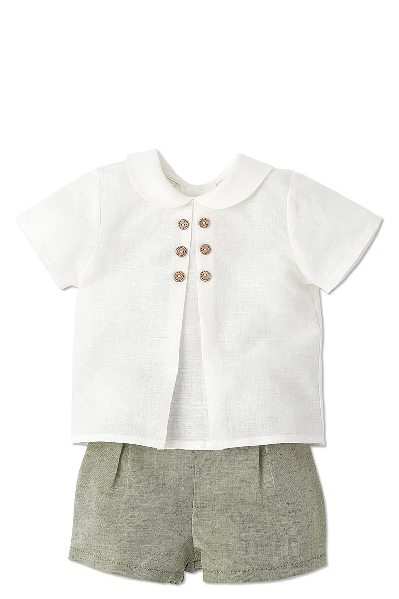PAZ RODRIGUEZ OLIVE SHORTS FOR BABY BOYS http://www ...