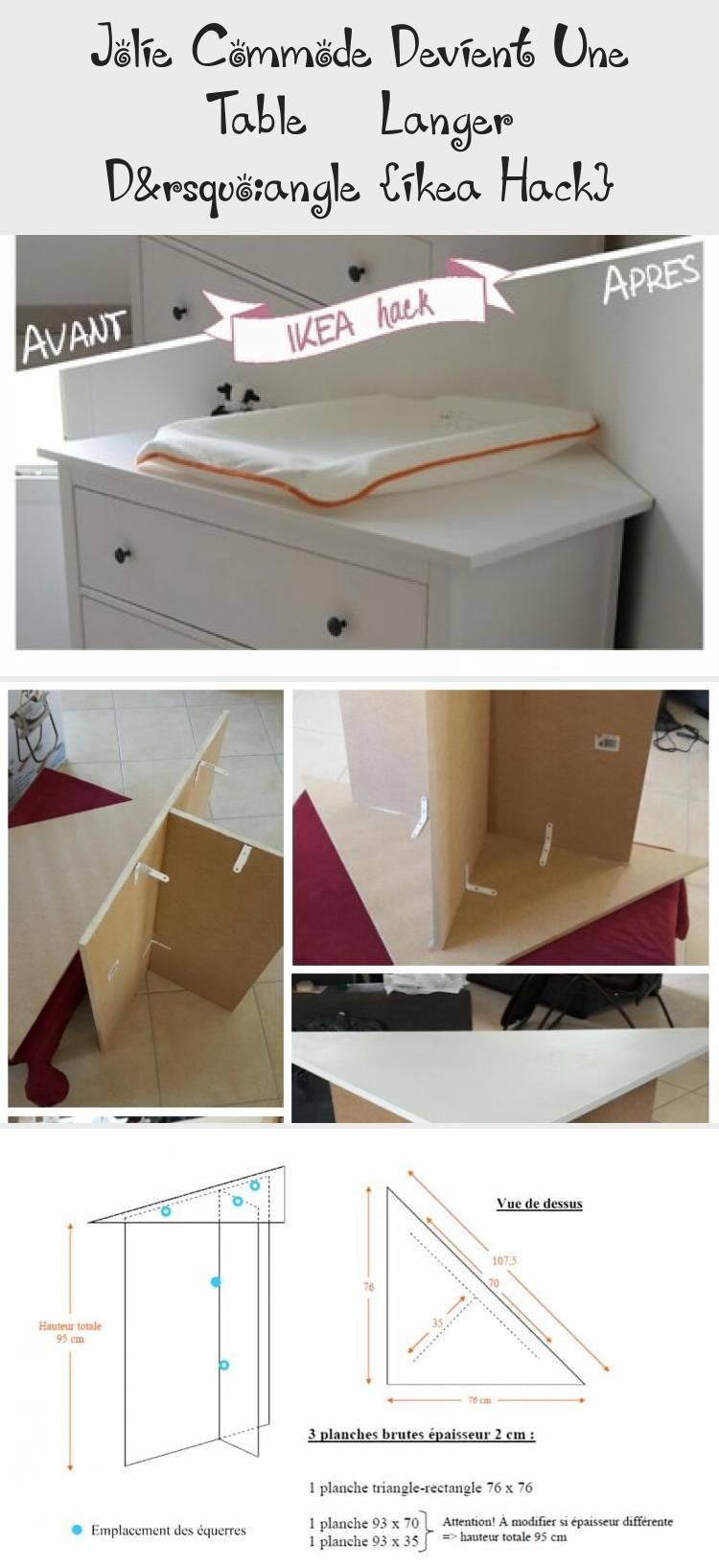 Jolie Commode Devient Une Table A Langer D Angle Ikea Hack Ikea Hack Ikea Table