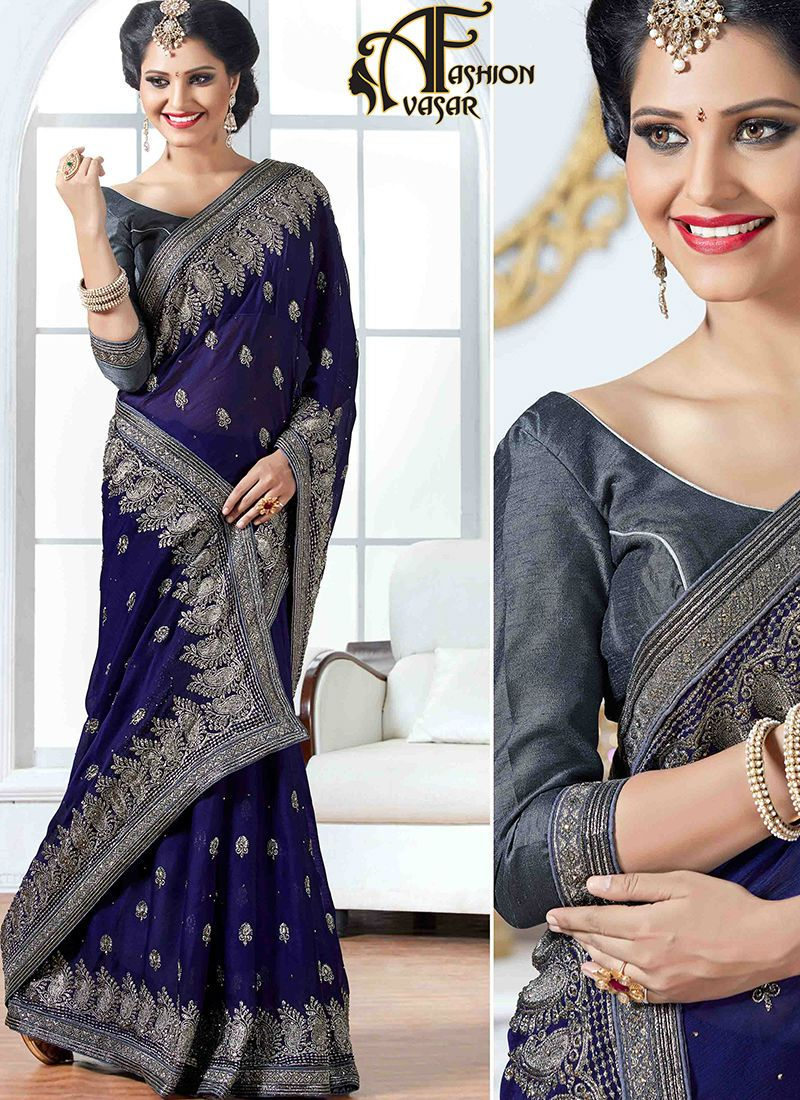 Buy Chiffon Sarees Online Shopping India. Designer Party Wear ...