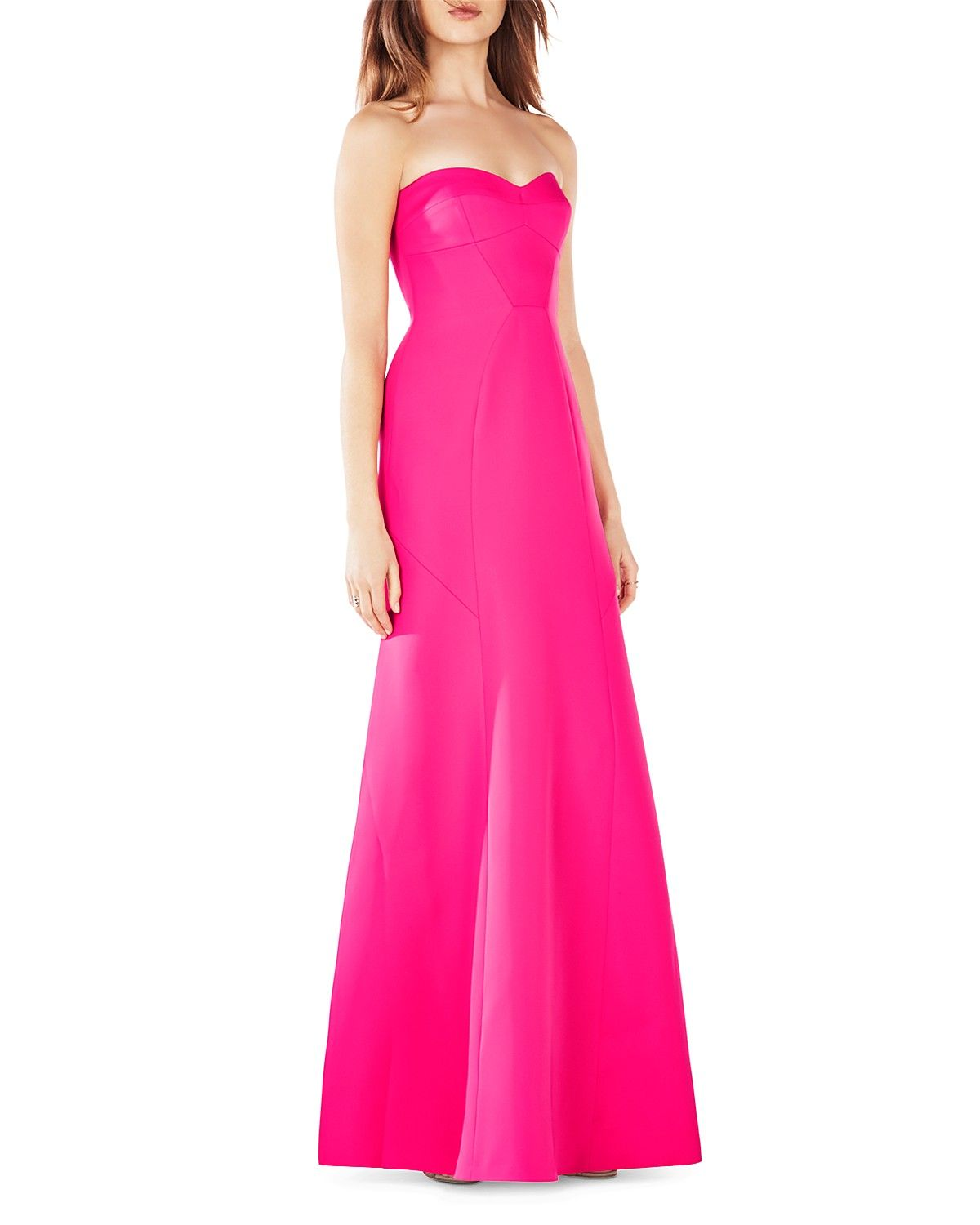 BCBGMAXAZRIA Strapless Gown - 100% Bloomingdale\'s Exclusive   Glam ...