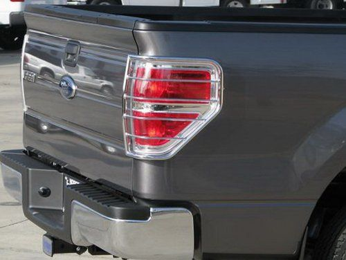 TYGER Custom Fit 0914 Ford F150 2pcs Stainless Steel Taillight Covers Tail Light Guards Mounting hardware  instruction included *** For more information, visit image link.