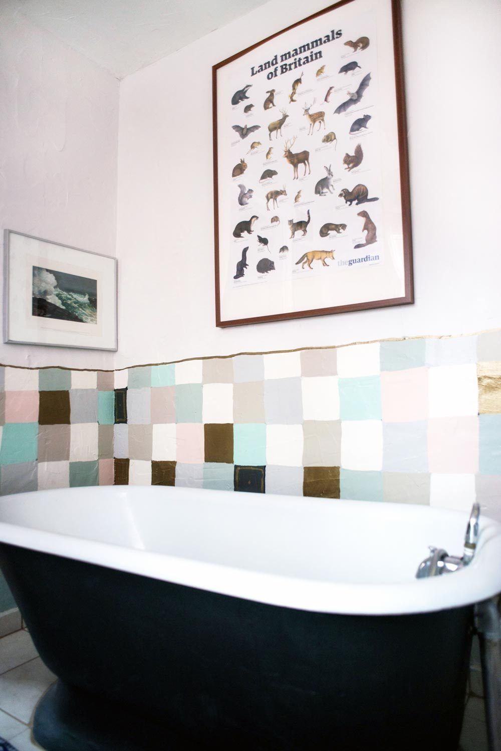 Hand-painted fake tiles in the Philadelphia home of Kimberly Hall ...