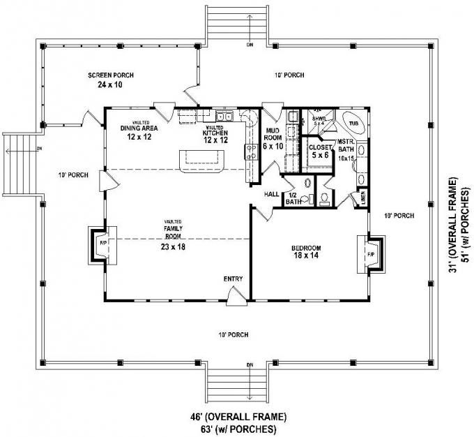 653630 - Great Raised Cottage with wrap around porch and ... on