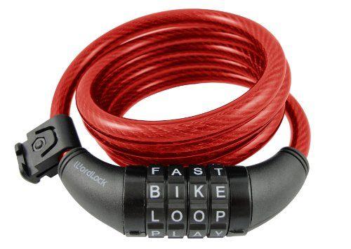 Bike Cable Locks Wordlock Cl408rd 4letter Combination Bike Lock
