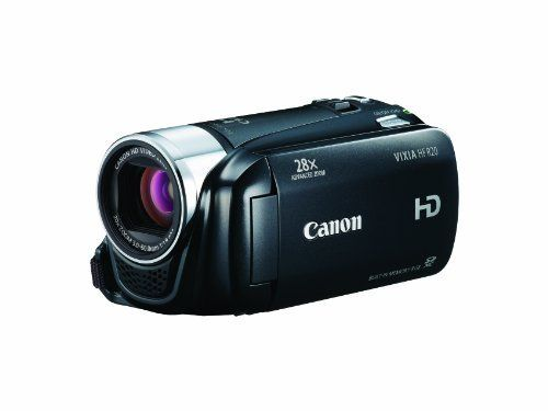 Canon VIXIA HF R20 Full HD Camcorder with 8GB Internal  Flash Memory (Black) by Canon. $599.00. From the Manufacturer                                                                                                                          The VIXIA HF R20 allows you to record up to 3 hours of crisp high definition video to an 8GB internal flash drive or to two SDXC-compatible memory card slots. With Relay Recording, the camcorder automatically switches video r...