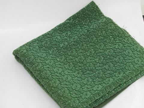 Eames Era Mid Century Vintage Cut Leaf Pattern Loop Texture