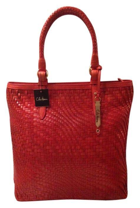 Tote bag · Cole Haan Nwt! Genevieve Woven Leather Weave Large Hobo Handbag  Spicy Orange   Red Orange 47ff19e774ec7